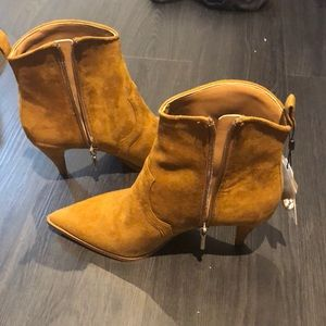 Zara Pointed Toe Suede Boots